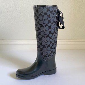 Coach Womens Tristee Rain Boot Black